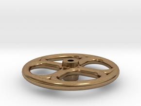 No. 23 - Tender Brake Wheel .625 plus 1% in Natural Brass