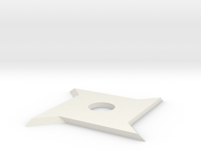 Ninja star x4 in White Natural Versatile Plastic: Small