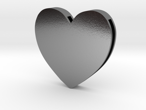 Choker Slide Letters (4cm) - Rebirth Heart in Polished Silver