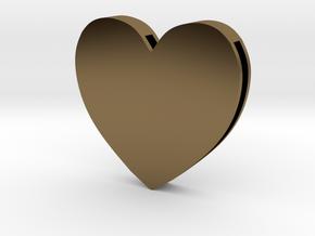 Choker Slide Letters (4cm) - Rebirth Heart in Polished Bronze