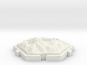 Montañas  in White Natural Versatile Plastic