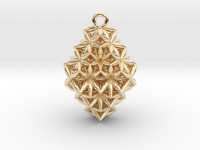 The Time Crystal in 14k Gold Plated Brass
