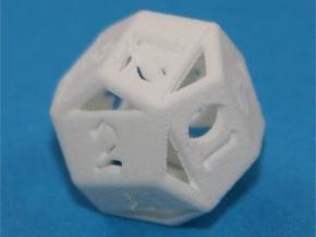 d12 pyrite 1 in White Natural Versatile Plastic