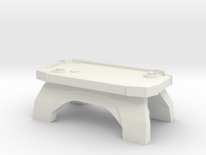 Mini Air Hockey Table in White Natural Versatile Plastic: Small