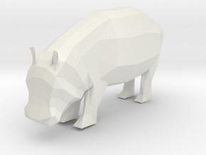 Hippo Baby in White Natural Versatile Plastic