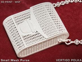 Small Mesh Purse in White Strong & Flexible
