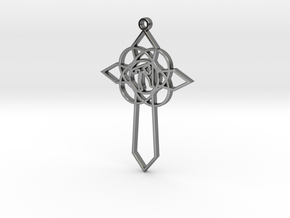 Personalised Celtic Cross Pendant in Fine Detail Polished Silver