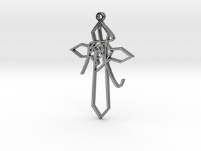 Personalised Astrological Eastern Cross Pendant in Fine Detail Polished Silver