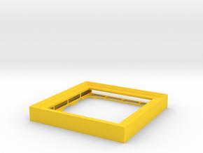 CD Frame Rain 4 in Yellow Processed Versatile Plastic