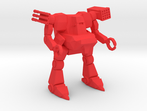 North Korean Lifter Mech in Red Strong & Flexible Polished: 6mm