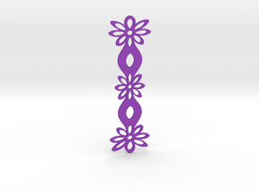 Floral bookmark - variant III in Purple Processed Versatile Plastic