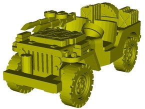 1/87 scale WWII Jeep Willys 4x4 SAS vehicle x 1 in Smooth Fine Detail Plastic