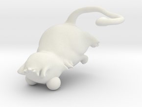 cute cat in White Natural Versatile Plastic