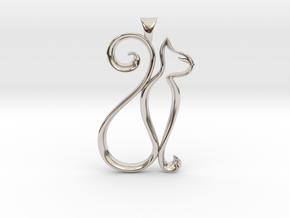 The Cat Necklace in Platinum