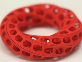 Sliced Torus Puzzle 3in in Red Processed Versatile Plastic