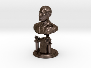 14 inch Bronze bust of Barack Obama in Polished Bronze Steel
