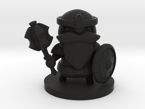 Dwarf Fighter in Black Premium Versatile Plastic