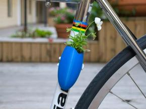 A Planter for Your Bike in Pink Processed Versatile Plastic