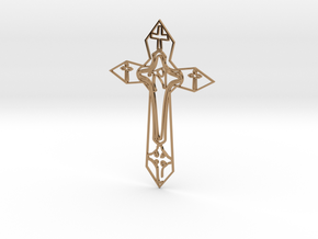 Personalised Cross Artwork in Polished Brass