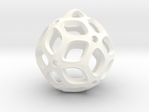 View of spherical games - part two. Pendant in White Processed Versatile Plastic