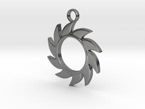 Sun V1 in Fine Detail Polished Silver