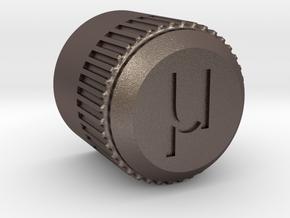 uBITX Encoder Knob in Polished Bronzed Silver Steel