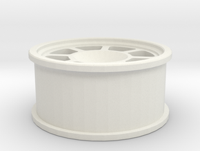 LaTrax Rally nascar style wheel in White Natural Versatile Plastic