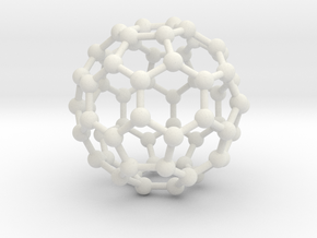 0009 Fullerene c60 ih in White Premium Strong & Flexible