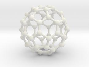 0009 Fullerene c60 ih in White Premium Versatile Plastic