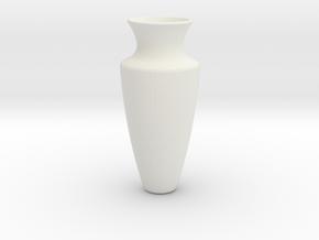 Vase Tall in White Natural Versatile Plastic