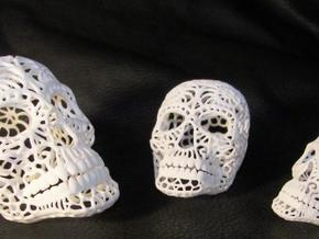 Nautilus Sugar Skull - Large in White Strong & Flexible Polished