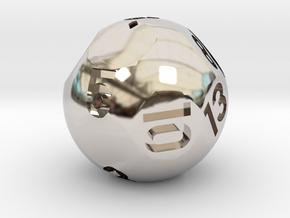 d13 Sphere Dice in Platinum