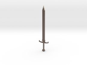 Long-Sword letter opener in Polished Bronzed Silver Steel