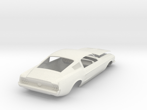 1967 Ford Mustang Fastback in White Natural Versatile Plastic