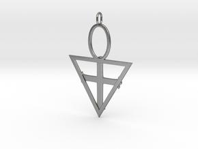 Rose Cross in Natural Silver: Medium