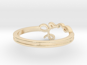 Love Ring in 14k Gold Plated Brass: 11 / 64