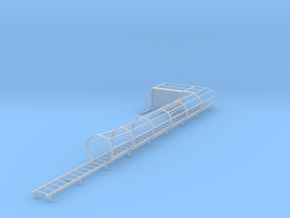 1/64 ladder cage left side platform in Smooth Fine Detail Plastic