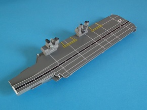 Queen Elizabeth-class aircraft carrier, 1/1200 in White Natural Versatile Plastic