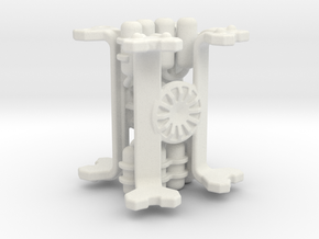 28mm Scale Missile Carrier Arm (Pair) in White Natural Versatile Plastic