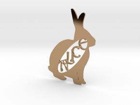 Personalised Animal Artwork - Rabbit in Polished Brass