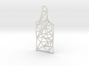 Amsterdam Canal House Wireframe Pendant in White Premium Strong & Flexible