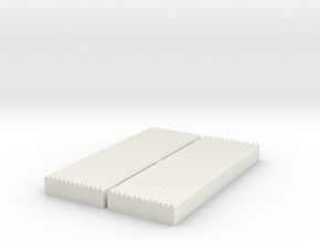 Corrugated Sheet Die 1:87 - Ver4 in White Natural Versatile Plastic