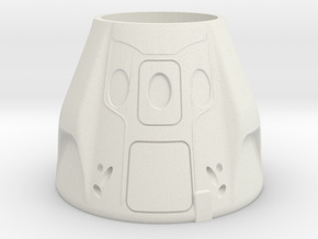 SpaceX Dragon 2 Themed Pop/Soda Holder in White Natural Versatile Plastic