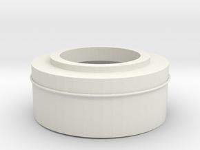 1/100 DKMScharnhorstBarbette C in White Natural Versatile Plastic