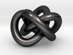 celtic-Knot HR.-pure in Polished and Bronzed Black Steel