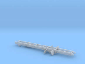 Single axle truck frame in Smooth Fine Detail Plastic