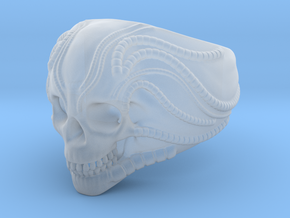 H.R Giger Skull Ring in Smooth Fine Detail Plastic: 8.25 / 57.125