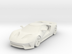 Ford GT - 2017 [100mm] in White Natural Versatile Plastic