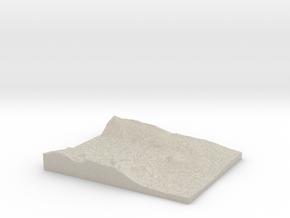 Model of Vatnedalsvatn in Natural Sandstone