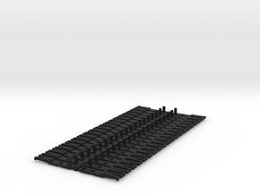 OO NEM Type 3 Coach Drawbar X40 in Black Natural Versatile Plastic